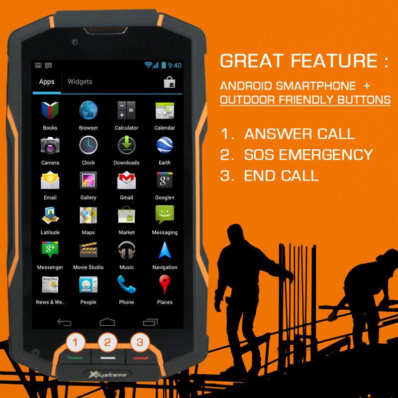 Rugged 9500 Smartphone Waterproof Smartphone