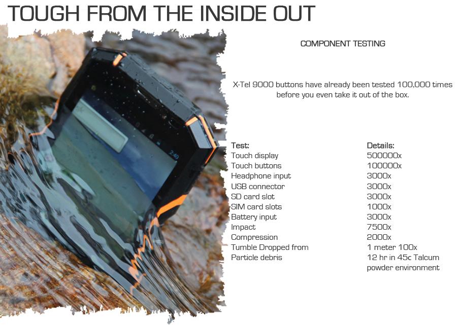 Waterdichte Smartphone X-Tel 9000 4G